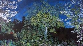 heure bleue au pommier 145 x 89 cm