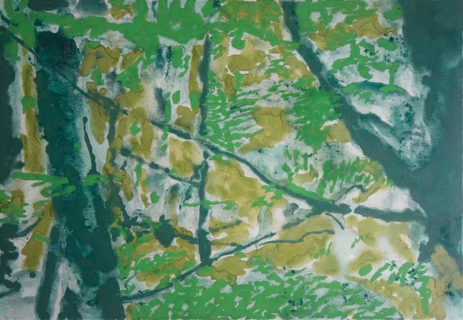 2. _Sans titre_ pigments, détrempe sur toile, 70 x 50 cm. 2021 - Muriel Hériveau