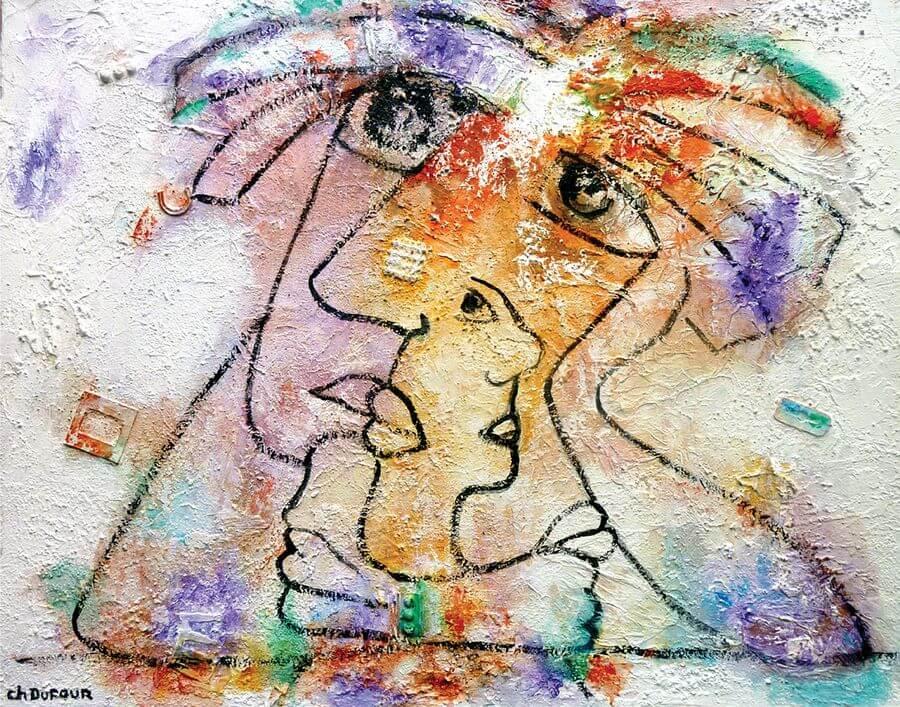 Ch.Dufour_Le rêveur 65x81cm TM sur toile