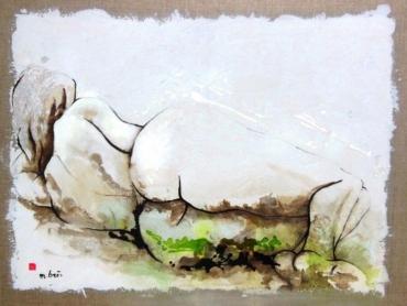 Cunégonde ou Neige printanière.88 x 116 cm DETRUITE